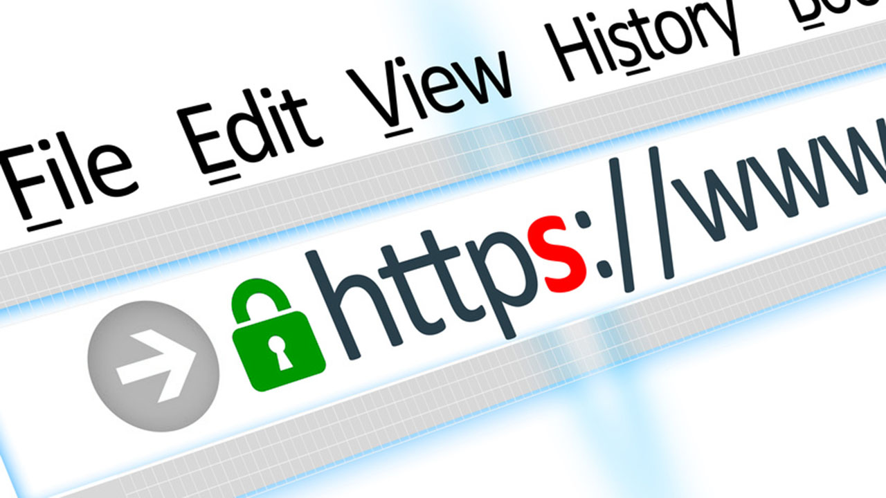 Secured connection web browser HTTPS