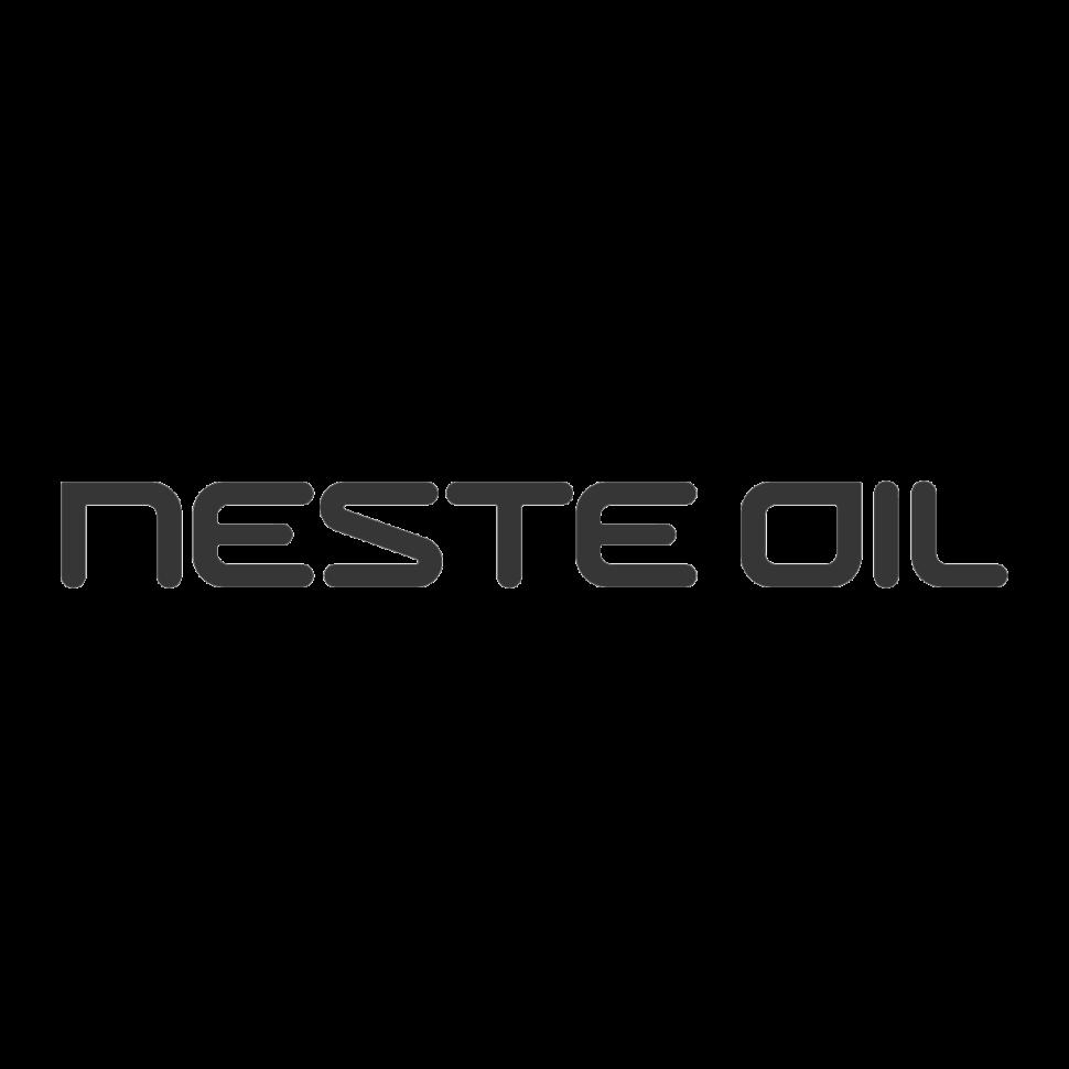 Logo Neste Oil, black & white