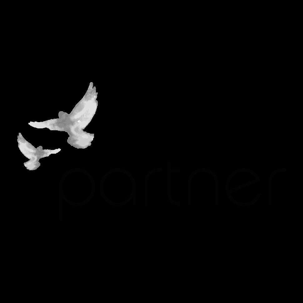 Logo partner, black & white