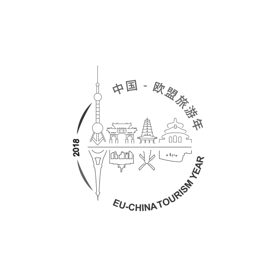 Logo EU-China Tourism Year 2018, black & white