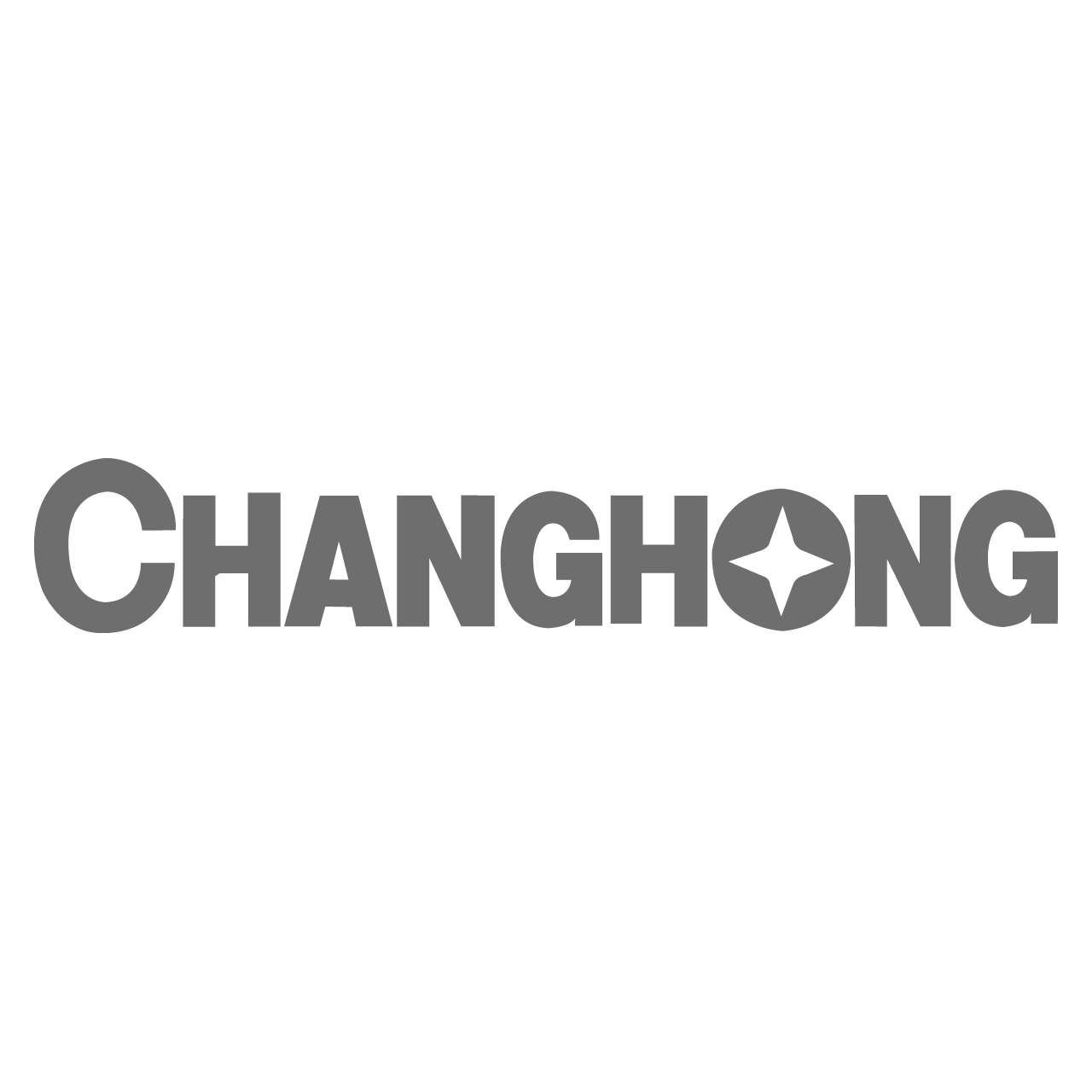 Logo Changhong, black & white