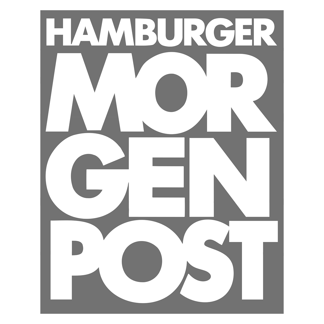 Logo Hamburger Morgenpost, black & white