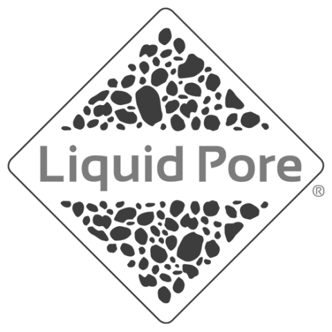 Logo Liquid Pore, black & white