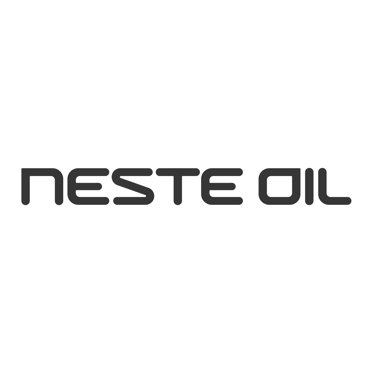 Logo Neste Oil, black & white