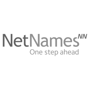 Logo NetNames, black & white