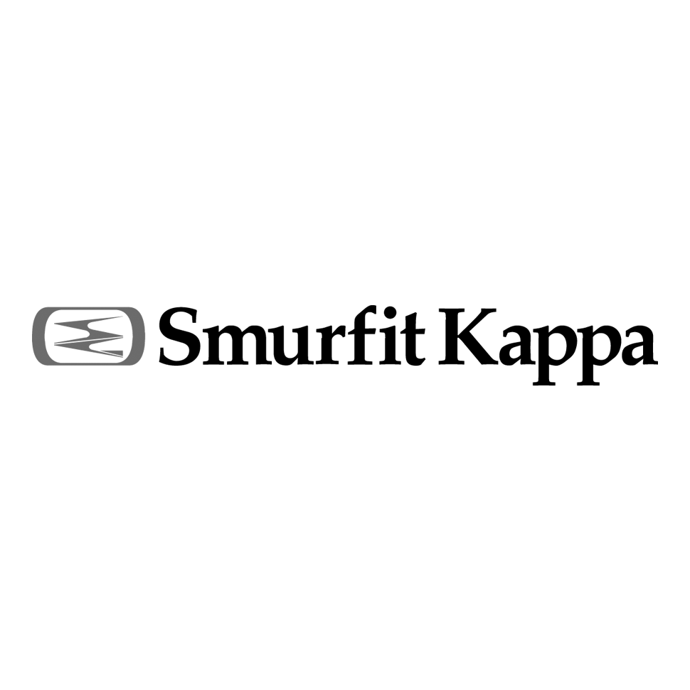 Logo of Smurfit Kappa, black & white