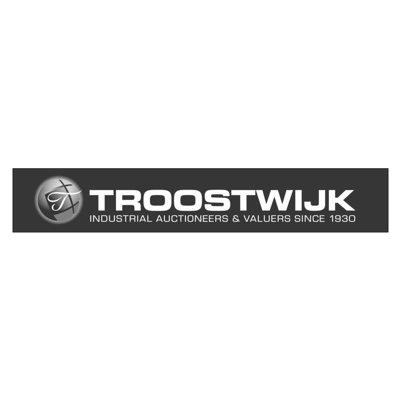 Logo Troostwijk, black & white