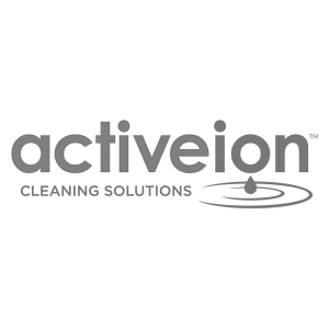 Logo activeion, black & white