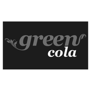 Logo green cola, black & white