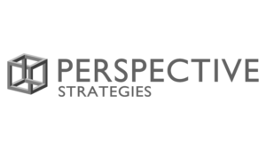 Logo Perspective Strategies, black & white