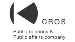 Logo CROS Public Relations, black & white