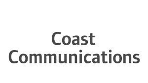 Logo Coast Communications, black & white