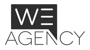 Logo We Agency, black & white