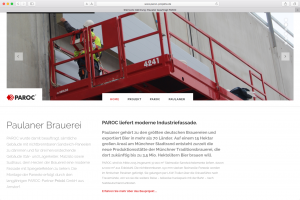 Paroc Paulaner Brauerei, Website Screenshot