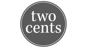 Logo two cents, black & white