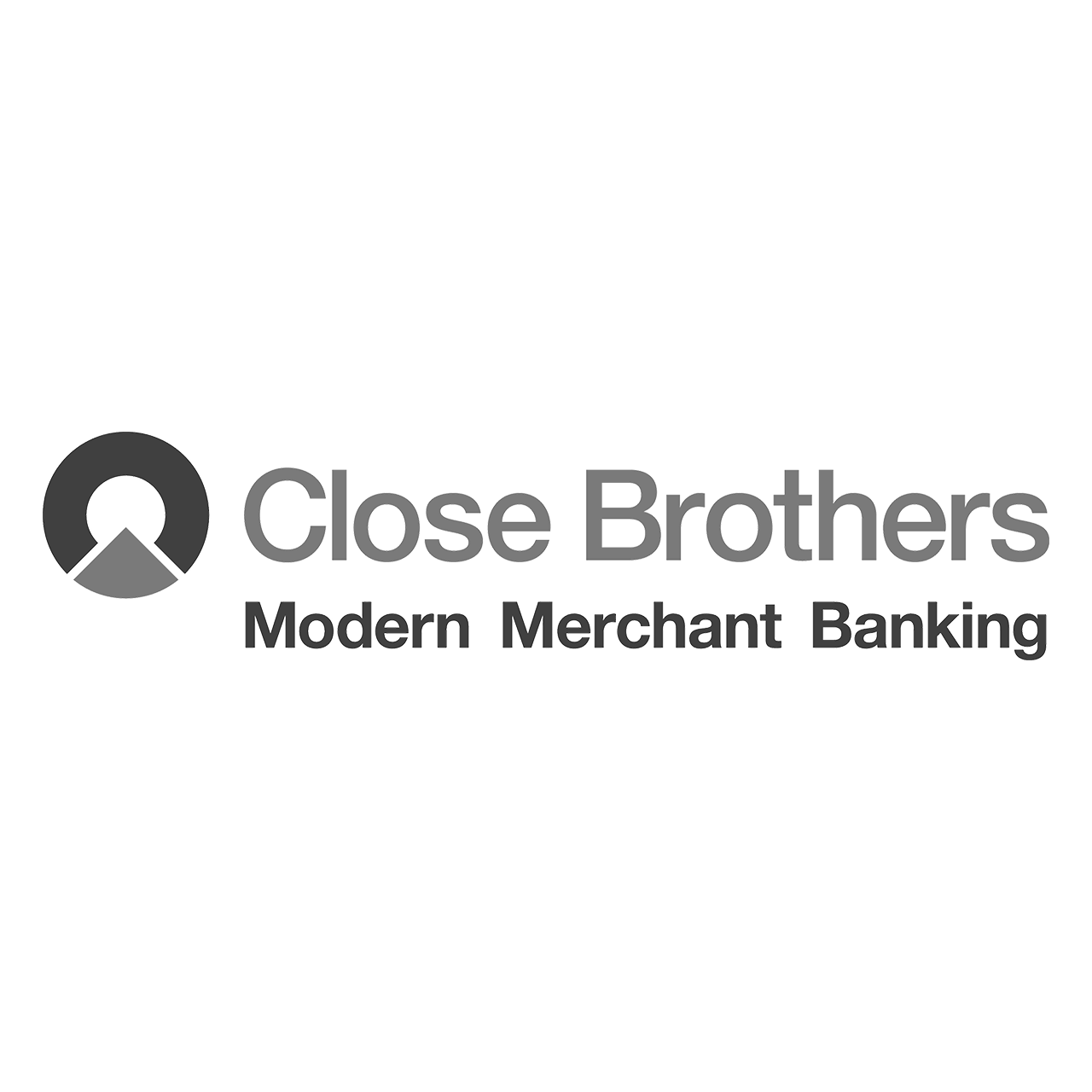 Logo Close Brothers, black & white